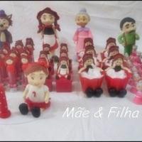 Chapeuzinho Vermelho e Personagens, lembrancinhas, tubetes, caixa acrílico, topo de bolo, centro de