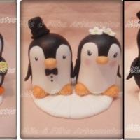 Todo o romantismo dos Pinguins. Personalizamos conforme o desejo do casal.