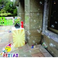 Aluguel de máquina de bolhas de sabão. Sétima Festas e Eventos.