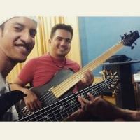 Tarde de estudos com meu mano Diego Ramos (baixista da banda Calipso)
