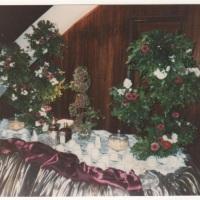 Arranjo de flores para mesa de chá
