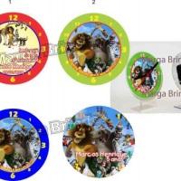 Relógio mesa de acrílico centro de mesa festa infantil