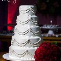 Bolo de casamento para celebrar a união de Priscilla e Bruno