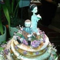 Naked Cake de baunilha com recheio de damasco