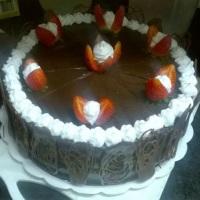 Chocolate com morangos