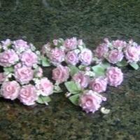 Topo de bolo rosas