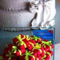 Maquete do bolo e bem casados