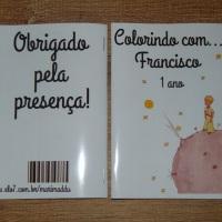 Kit de Livros de Colorir com Giz de Cera Pequeno Príncipe Tamanho: 14x10 cm Com 12 imagens em 6 pá