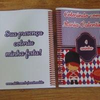 Kit de Livros de Colorir com Giz de Cera Soldadinho de Chumbo Tamanho: 14x10 cm Com 12 imagens em