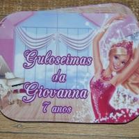 Adesivos para Marmitinha Barbie Medida 9,5 cm x 13 cm