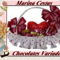 Linda Cesta de Chocolates