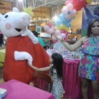 Peppa Pig personagem vivo