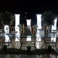 Mesa de vidro para casamento