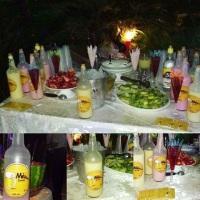 Mesa de Drinks organizada em mesa comum