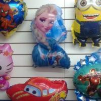 Balões Metalizados de vários preços. Minions, Frozen, Carros, Advengers, Homem Aranha, Hello Kitty