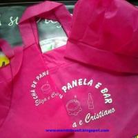 Sacola,avental e touca em TNT para Chá de Panela