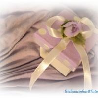caixinhas em MDF /tampa decorada com tecido