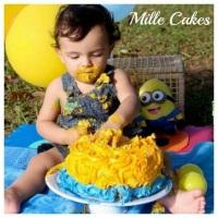 Rose Cake para ensaio fotográfico.