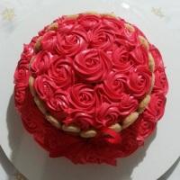 Rose Cake com biscoito champanhe