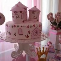 Festa Princesa - Bolo Castelo floral