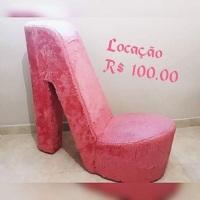 Puff de Sapato de salto rosa