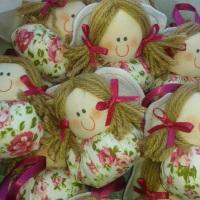 Chaveiros de bonecas de pano...