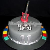 Bolo temático Guitar Hero