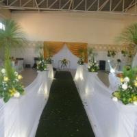 corredor e tapete verde