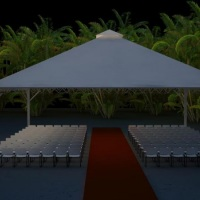 Quantidade de cadeiras + passarela para casamento que cabe em uma tenda tam 10x10