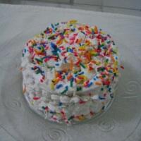 Mini bolo coberto com chantilly