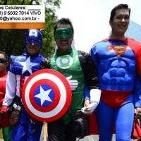 Aluguel Locação Vendas Personagens Vivos Super Heróis