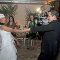 Gravando casamento da Kátia