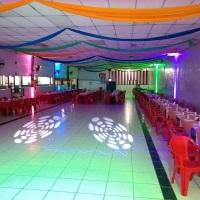 Musical Multsom pronto para o inicio do baile no clube Atmas, em Santos.