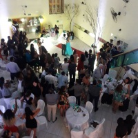 Festa de casamento, olhe a beleza so salão.