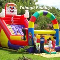 Tobogã Palhaço diâmetros, Largura 4.00 metros -  Comprimento 8.00 - metros Altura 5.60
