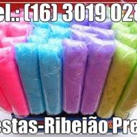 Fazemos à domicílio Algodão doce ensacados - brancos ou coloridos:(16) 3019 0280