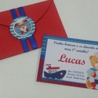 convites 10x07 e 10x15  como envelope personalizado