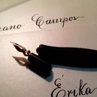 Bico de pena, caligrafia cursiva inglesa