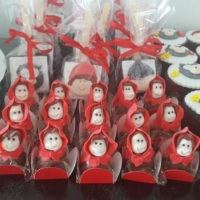 trufas personalizadas tema chapeuzinho vermelho
