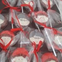 pirulitos de chocolate personalizados