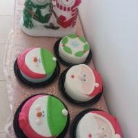 mini bolos natalinos