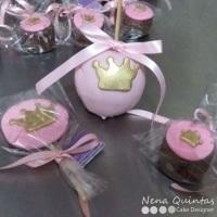 Pirulitos de chocolate, maçãs decorada e tudo mais para deixar sua mesa linda