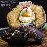 Ovos de Páscoa caseiros. Ovos de colher