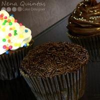 Cupcakes tradicionais, 2D e 3D