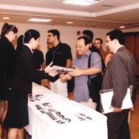 Recepção, credenciamento, distribuição de material gráfico, staff sempre atento às necessidades do e