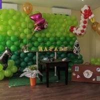 Parede de Balões Tema Safari