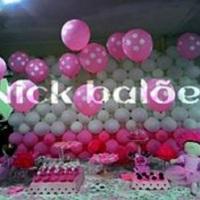 Parede de Balões , mais balão com gás hélio