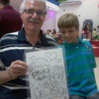 Todas as idades se divertem com as caricaturas ao vivo de Nilson Féllix!!! WhatsApp: (19) 9 9246-75