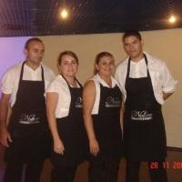 Equipe no Coquetel do Colégio Marista Mondubim