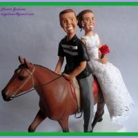 Noivos no cavalo